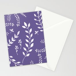 Ultra Violet Leaves Pattern #2 #drawing #decor #art #society6 Stationery Cards