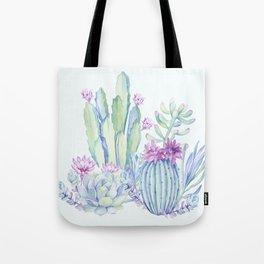 Mixed Cacti Light Blue #society6 #buyart Tote Bag