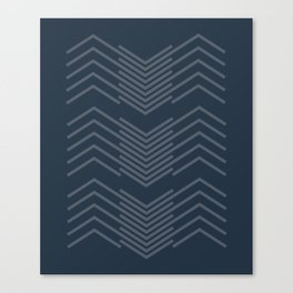 Blue Zags Canvas Print