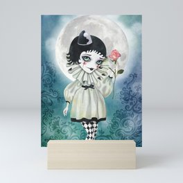Pierrette Under the Icy Moon Mini Art Print
