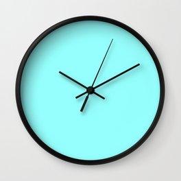 Pastel Starburst ~ Cyan Blue Wall Clock
