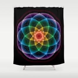 Sacred Rainbow Mandala Shower Curtain
