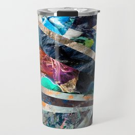 Triangle Forest Abstract Rainbow Travel Mug