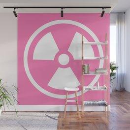 Pink Radioactive Symbol Wall Mural