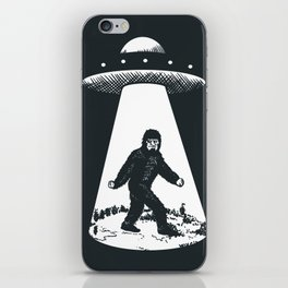 Bigfoot abducted by UFO iPhone Skin
