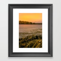 Wilderness Sunset Framed Art Print