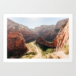 From the Mountains, Up Angel's Landing (Zion National Park, Utah) Art Print
