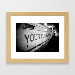 Your Future This Way Framed Art Print
