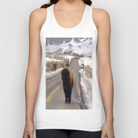 montana Tank Tops featuring Montana Traffic Jam by Kim Ramage