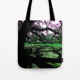 Green Oak Shadows Tote Bag