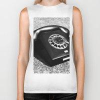 telephone Biker Tanks featuring telephone by Falko Follert Art-FF77