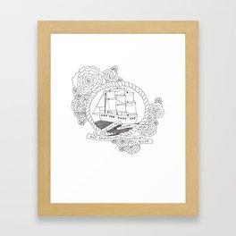 A Ship in the Harbor Framed Art Print