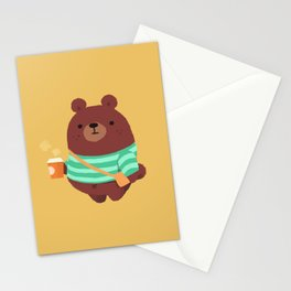 Brown bear mug, bag, and more Stationery Cards