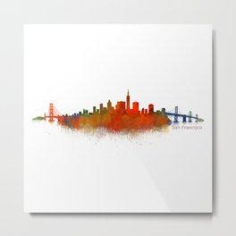 San Francisco City Skyline Hq v2 Metal Print