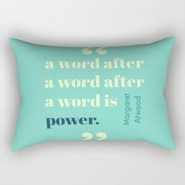 A Word Is Power Rectangular Pillow
