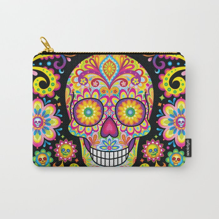 Sugar Skull Art (Spark) Carry-All Pouch