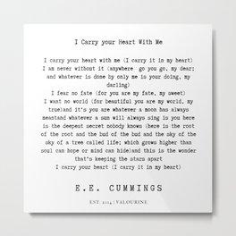 1  | E.E. Cummings Quotes | 200110 Metal Print