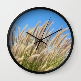Foxtails on a Hill Wall Clock