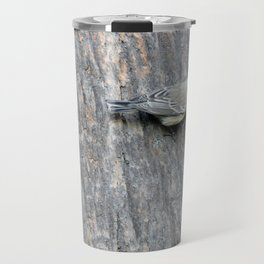 TEXTURES -- Warbler on Palm Bark Travel Mug