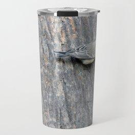 TEXTURES -- Warbler on Palm Bark Travel Mug