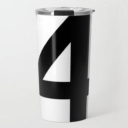 Number 4 (Black & White) Travel Mug