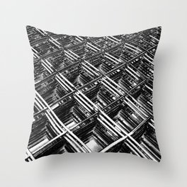 Rebar On Rebar - Industrial Abstract Throw Pillow