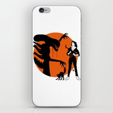 Alien Cartoon Style - Orange iPhone & iPod Skin