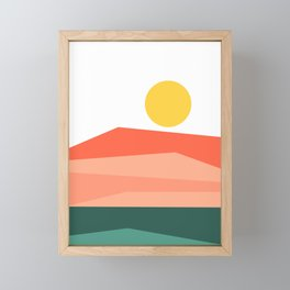 Abstract Landscape 09 Red Framed Mini Art Print