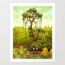 Please Don't Feed The Wildlife Art Print