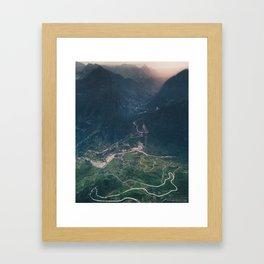 Mountainous town, Sa Pa, Vietnam Framed Art Print
