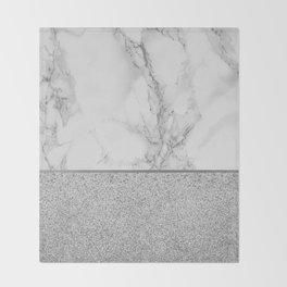 Marble + Glitter #1 Throw Blanket