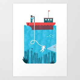 NAVIGATION MANUAL Art Print