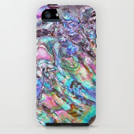 Shimmery Rainbow Abalone Mother of Pearl iPhone Case