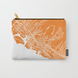 Honolulu map orange Carry-All Pouch