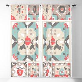 Custom Beautiful Multicolor Hanukkah Holiday Pattern Blackout Curtain