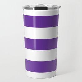 Purple Heart - solid color - white stripes pattern Travel Mug