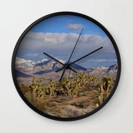 Winter in the Desert Wall Clock