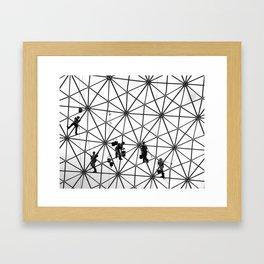 Biosphere Climbers Framed Art Print
