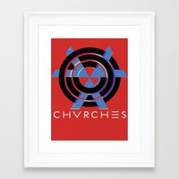 chvrches Framed Art Prints featuring CHVRCHES  by A Fuckin' Teenage Tragedy