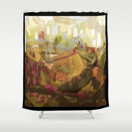 Abstract landscape 7 Shower Curtain