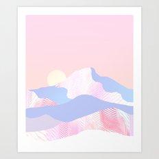 Dune Sun Art Print