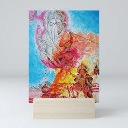 Ganesh Kali Mini Art Print