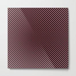Black and Desert Rose Polka Dots Metal Print