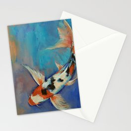 Sanke Butterfly Koi Stationery Cards