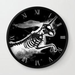 Unicorn Bunny - inverted Wall Clock