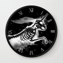 Unicorn Bunny - inverted Wall Clock