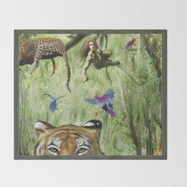 Tarzan's Last Jump Throw Blanket