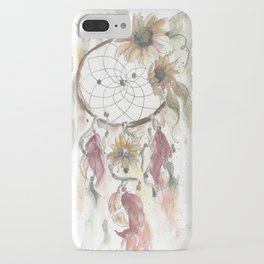 Dream catcher in earthy tones iPhone Case