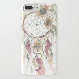 Dream catcher in earthy tones iPhone Case
