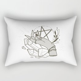 Witchy things - white Rectangular Pillow